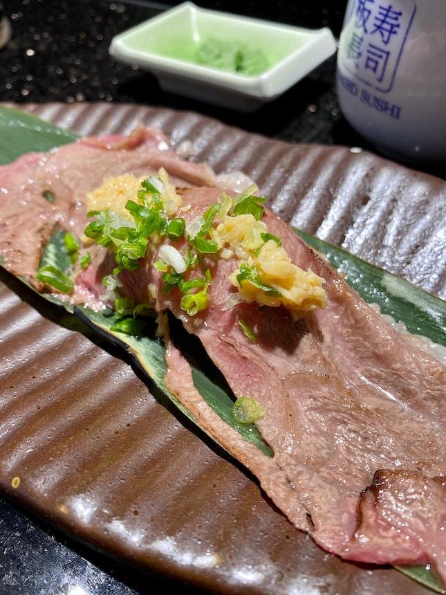 Roasted Kagoshima Wagyu Beef Sushi