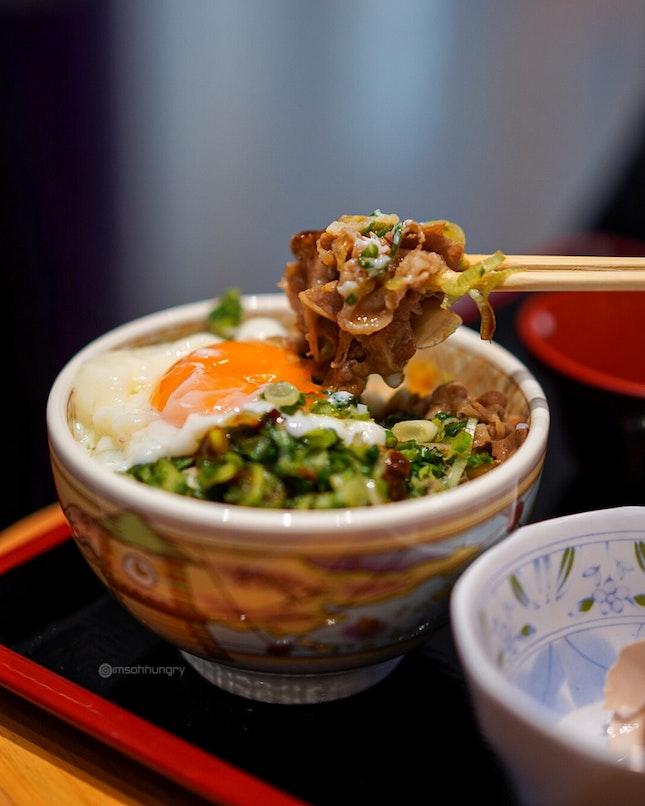 Spring Onions & Half Boiled Egg Gyu Don