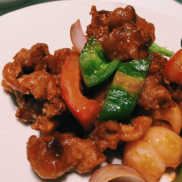 Sweet and sour pork with lychee at last nights family dinner.
