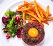 Craving the Paris style steak tartare with those golden fries and salad from bistro du vin.