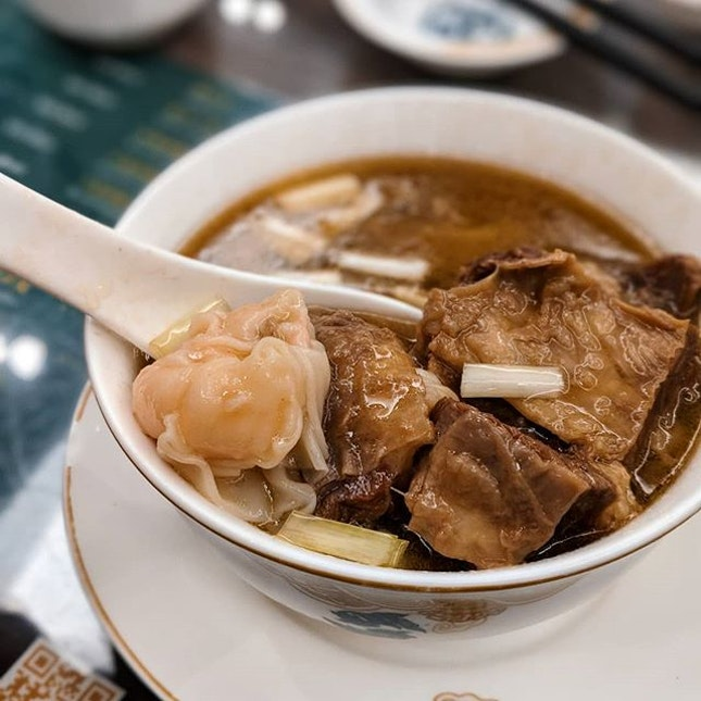 """For a restaurant more famous for their wanton noodles, Maks Noodles """"ngau lum"""" or stewed beef is pretty remarkable as well."""