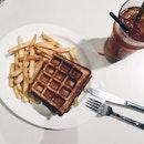 Waffle Beef Burger