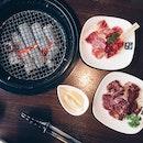 Karubi Beef & Harami Beef ($9) + Garlic Fried Rice ($4)