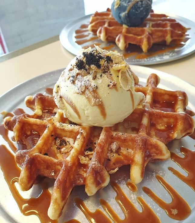 Waffles $9.50
