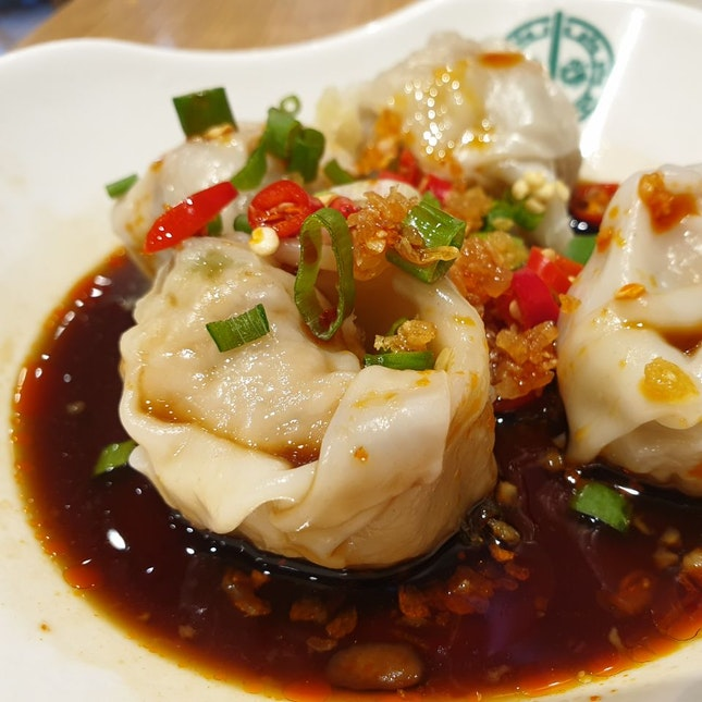 Red Oil Dumplings $6