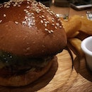 Smoked Wagyu Beef Burger w Triple cooked chips.
