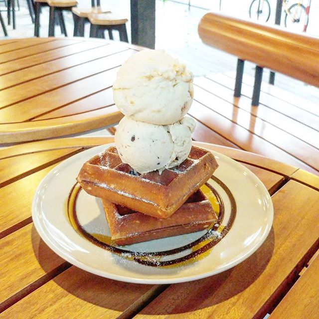 This is our favourite ice cream place, for the ambience, crispy waffles and ice cream flavours.