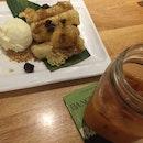 Banana Tempura + Thai Milk Tea
