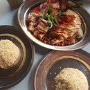 Roast Chicken , Roast Pork and BBQ Pork (Char Siew) & Soup ~ Lotus Root and Peanut .