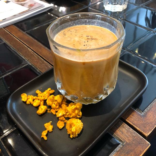 Turmeric Latte With A Dash Of Cinnamon [$7++]