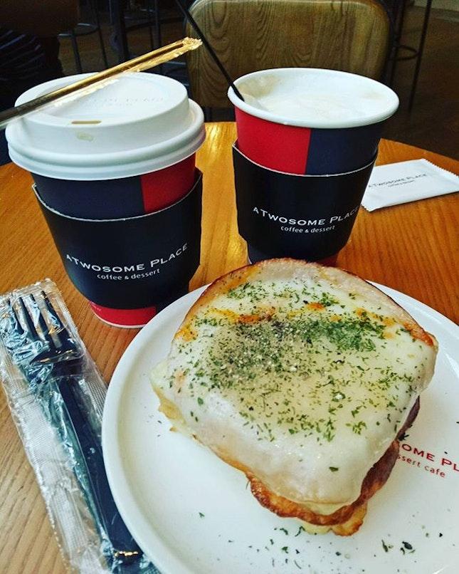 Having breakfast ham cheesy toast #hungrygowhere #instag #instagfood #foodpic #burpple #whati8tdy #wheretoeat #cafe #korean