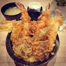 😍the crispy #tempura #mixed#akimitsu #signaturedon #tendon #ricebowl#sgfood #sgeat #hungrygowhere #instag #instagfood #foodpic #burpple #whati8tdy #wheretoeatsg #cafesg