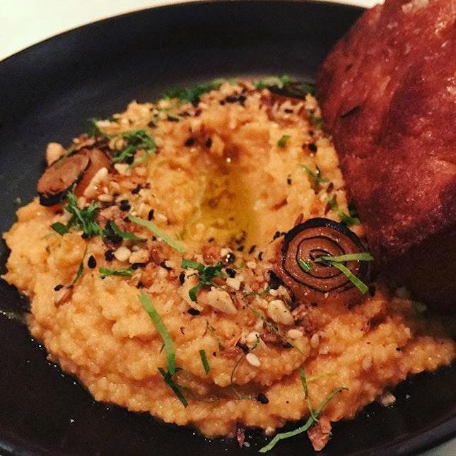 Sweet potato hummus- deliciously satisfying  #lavzfood #lavzdining #lavzdiningexperience #diningsg #foodies #foodreviewSg #foodspotting #foodlovers #foodporn #foodreviewsasia #yummy #foodie #realfood #sgeats #foodpix #nofilter #citynomads #sgrestaurants #sgdining #sgfoodlover  #sgfoodies #sgfoodfinder #openricesg #burpple #instagood #foodstagram #foodgasm #sgeats #mediterraneanfood