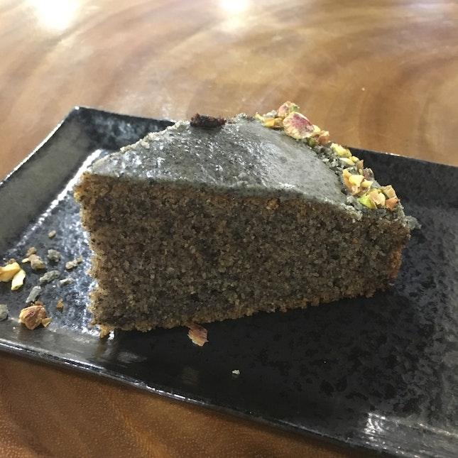 Black Sesame Rustic Vegan Cake
