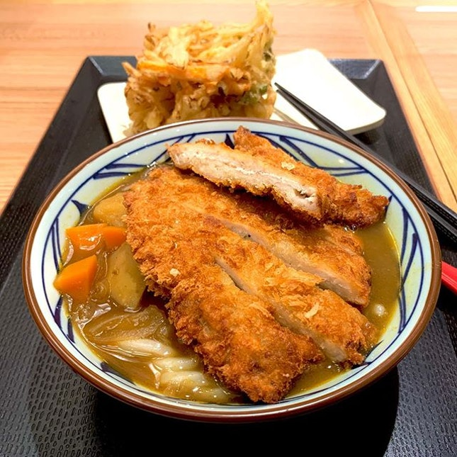 Katsu Curry Udon and Kakiage (Mixed Vegetable Tempura) - just needed a quick dinner without having to queue!!