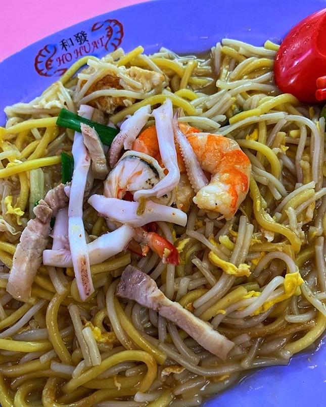 Hidden gem in Boon Lay food market discovery ~ Ho Huat Fried Hokkien Prawn 🦐 Mee #01-135.