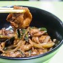Black Pepper Pork Rice ($5)