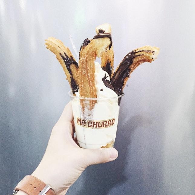 Churros With Ice Cream