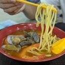 💸: $8 [ Sumo Big Prawn Noodle ] .