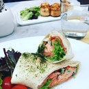 Salmon and lobster wrap