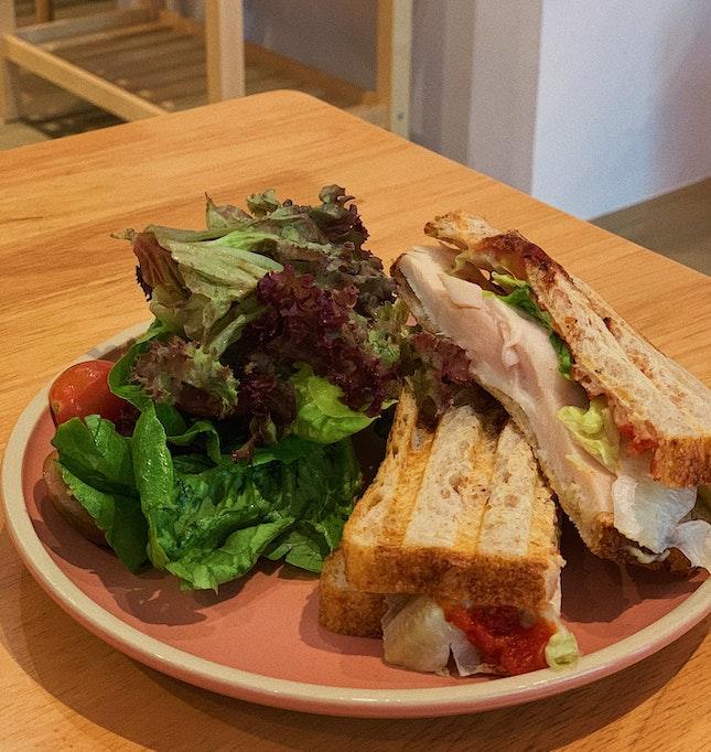 Chicken, Lettuce And Tomato Jam Sandwich (RM18)