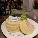 Soufflé Pancake W/ Matcha Ice Cream