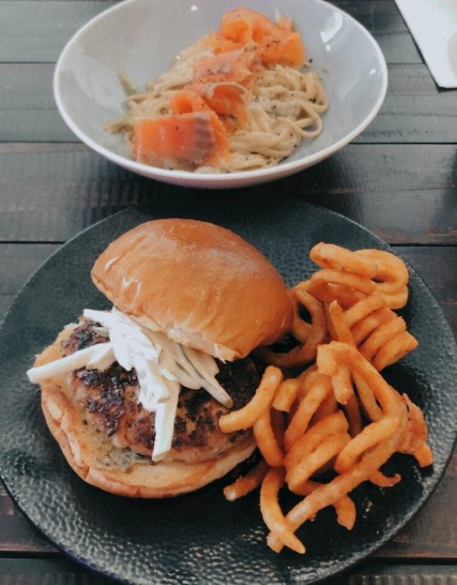 pork burger (~$15)