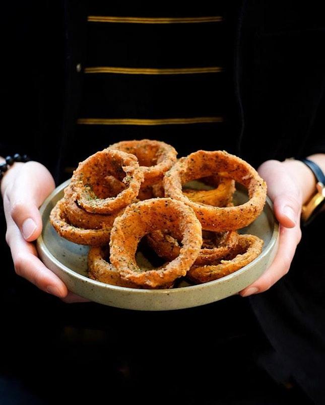 Onion rings [$9.80] .