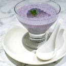 Purple sweet potato & taro with coconut milk ,gum tragacanth and sago [$5.80] .