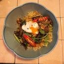 Fragrant pork prawn rice.