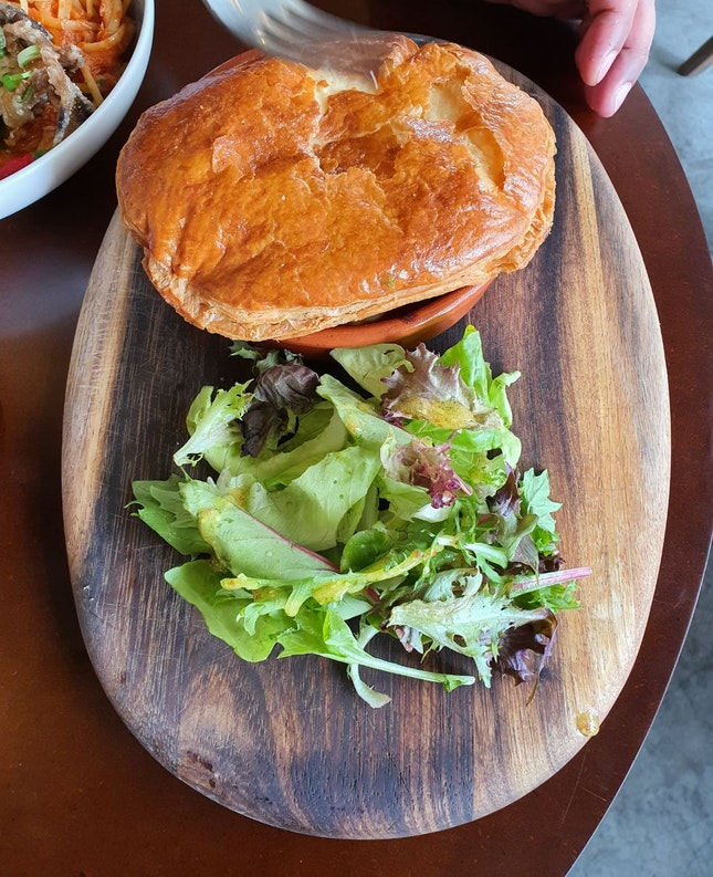 Wagyu Beef Pie With Leafy Salad ($14)