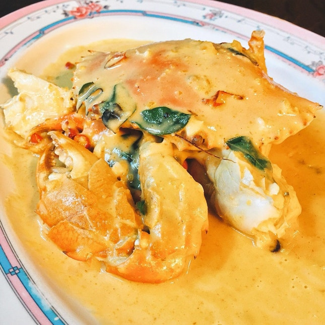 Crab in Salted Egg Sauce