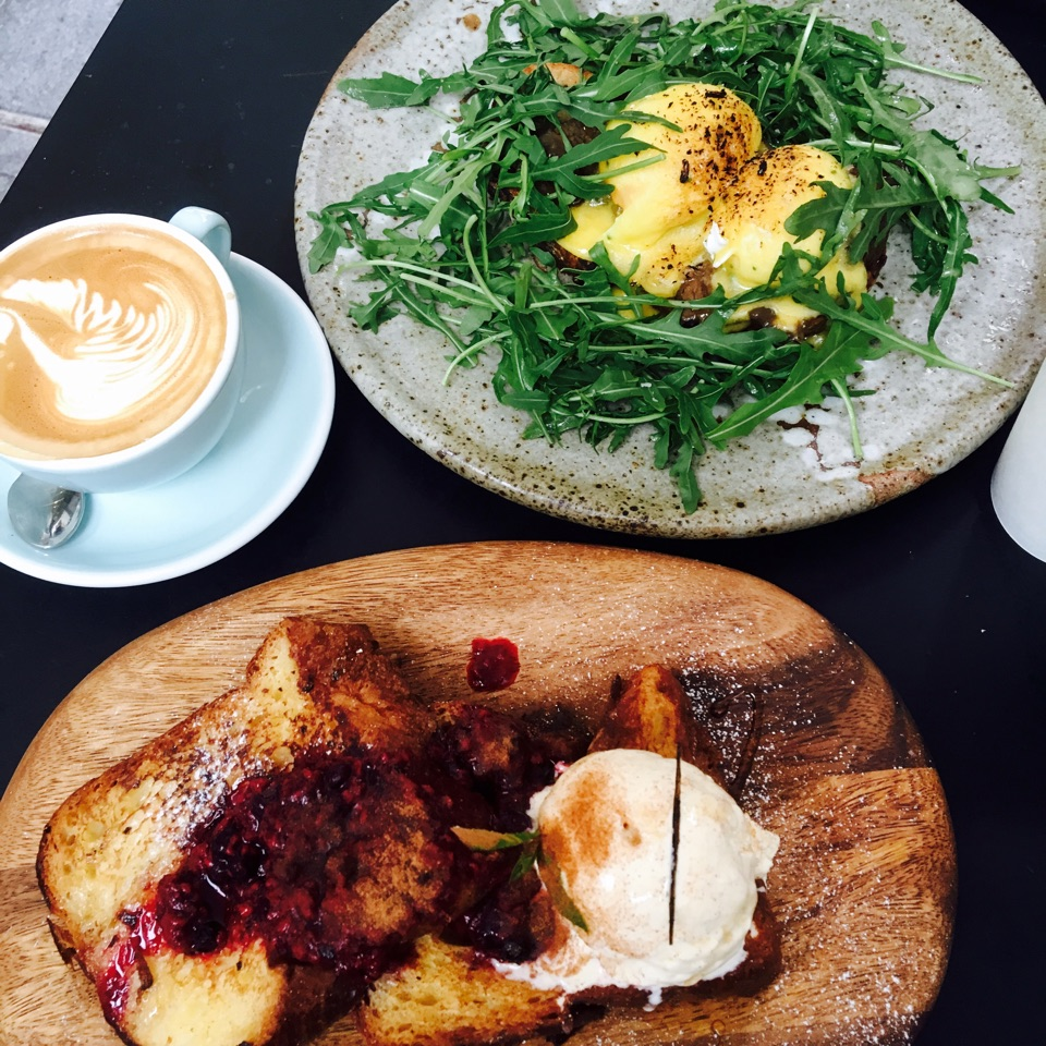 Brioche French Toast and Organic Eggs Benedict