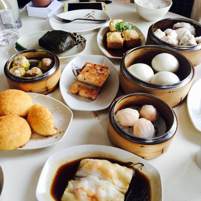 Dim sum at yum cha changi