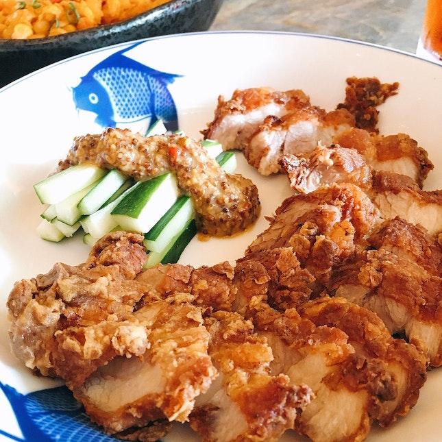 Hakka Crispy Kurobuta Pork Belly