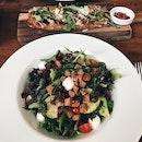 Mozzarella Salad + Black Forest Ham Fladen