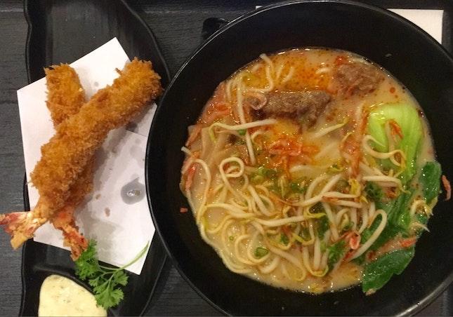 Tonkatsu Ramen & Ebi fry
