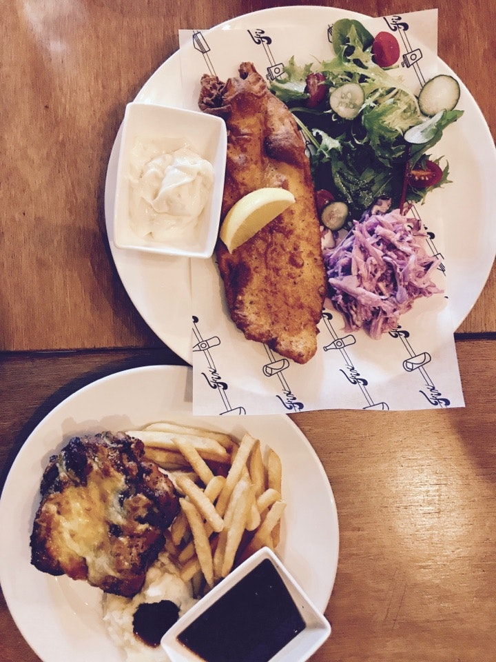 Fish & Chips And Chicken Chop