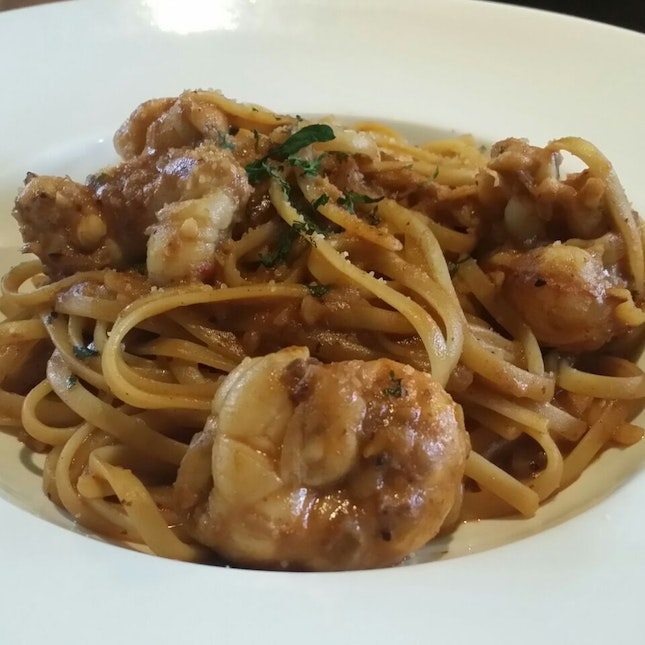 Creamy Slipper Lobster With Linguine