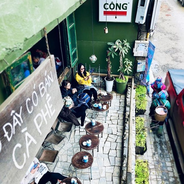 In Vietnam, drink coffee and people watch.