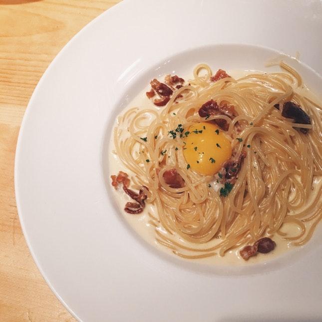 Carbonara With Egg Yolk