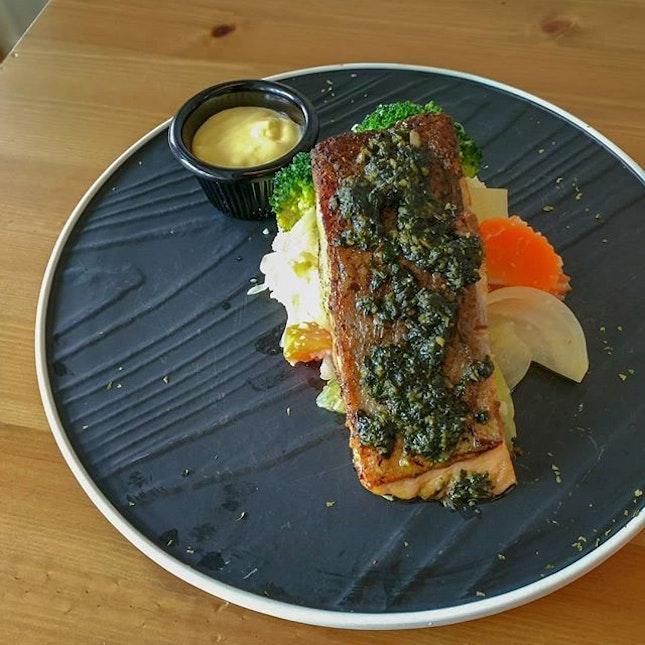Herb crusted #salmon.