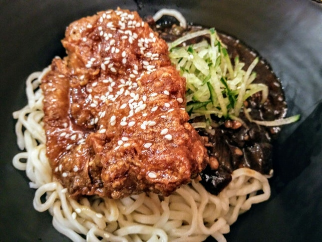 When Jajangmyeon Meets Korean Fried Chicken