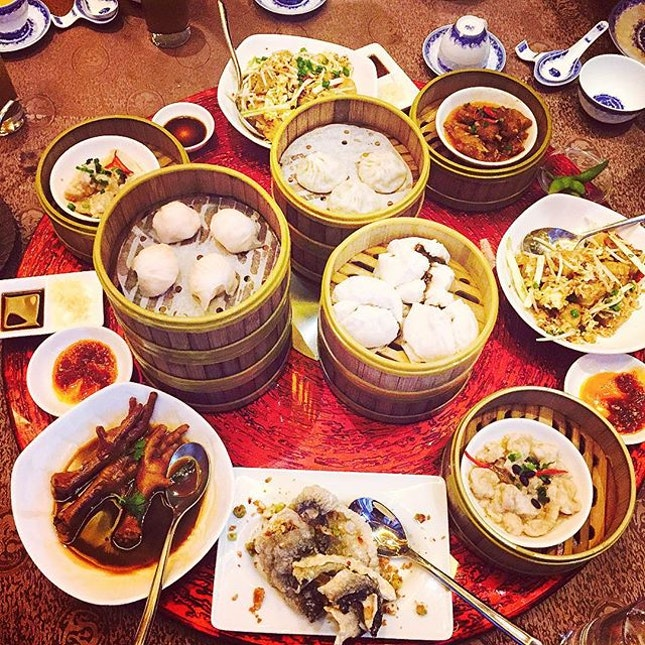 I always enjoy dim sum because I can order a variety of dishes and see a table full of food.