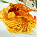 Chili Crab Pasta - One of the better places for pasta in Singapore.