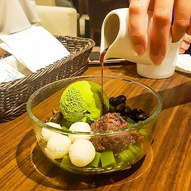 Matcha Anmitsu [$8.80] from @nanasgreenteasingapore  Perfect dessert for matcha lovers!