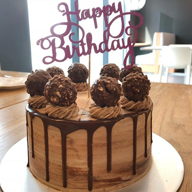 Super Rich Ferrero Rocher Cake ($68.80) 🎂 Only for the super strong chocolate lovers 🍫  #burpple