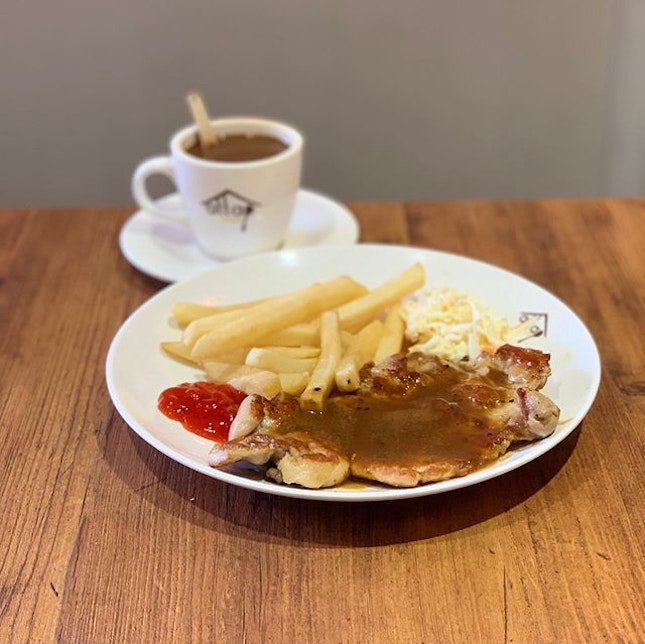Chicken Chop with Kopi ($7.90) 🐓 Was wondering around cluelessly and this place caught my eye.