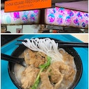 Fried Fish Beehoon Soup ($5.80) Long q with table sitting assistance.