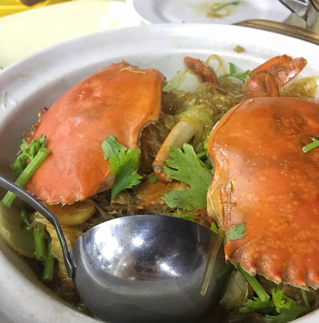 Crab Tanghoon ($45 for 2 crabs + $5)